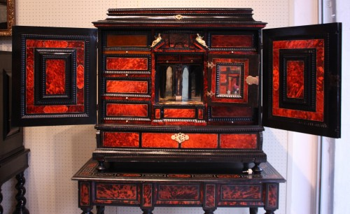 Furniture  - A 17th c Antwerp tortoiseshell cabinet