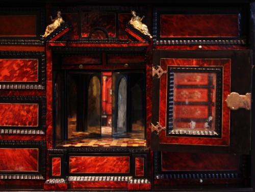 A 17th c Antwerp tortoiseshell cabinet -