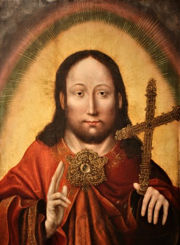 Christ Salvator Mundi, circa 1520, workshop of Quentin Matsys