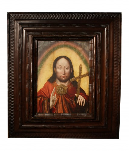 Christ Salvator Mundi, circa 1520, workshop of Quentin Matsys -