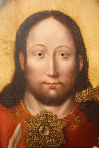 Antiquités - Christ Salvator Mundi, circa 1520, workshop of Quentin Matsys