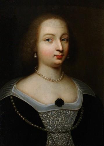 Portrait of Marie de Bourbon-Montpensier, Workshop of Beaubrun, circa 1625 - Paintings & Drawings Style Louis XIII