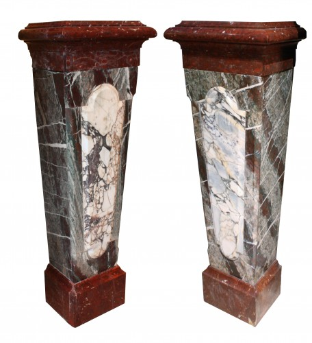 A Pair Of 19th Century Louis XIV Style Marble Columns