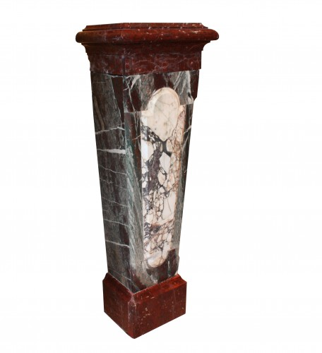 A Pair Of 19th Century Louis XIV Style Marble Columns - Decorative Objects Style