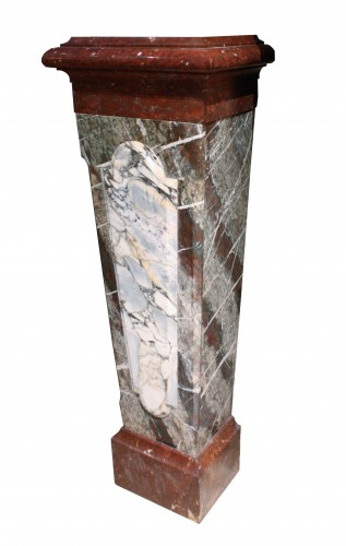Decorative Objects  - A Pair Of 19th Century Louis XIV Style Marble Columns