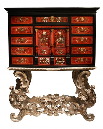 A Louis XIV circa 1670 prestige cabinet attributed to Pierre Gole