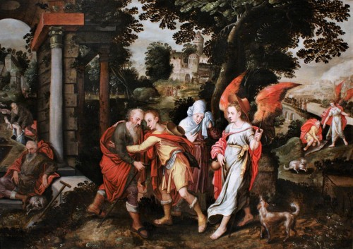 The Story of Tobias - Mid 16th c., attributed to Master of the Prodigal Son