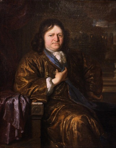 17th century - Portrait of a Gentleman, signed Carel de Moor (1655-1738), dated 1690