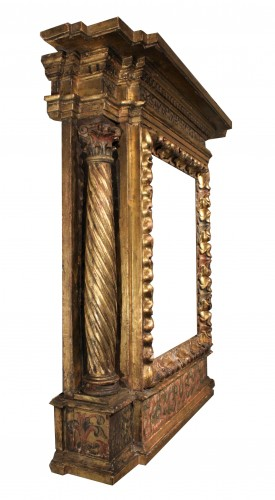 Antiquités - Italian Renaissance giltwood frame tabernacle