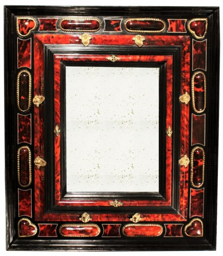 17th Century Antwerp Tortoiseshell And Ebony Mirror