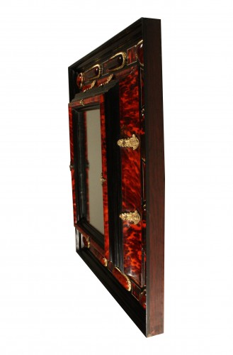 17th Century Antwerp Tortoiseshell And Ebony Mirror - Mirrors, Trumeau Style Louis XIV