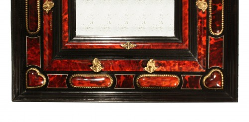 17th Century Antwerp Tortoiseshell And Ebony Mirror -