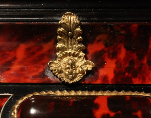 17th Century Antwerp Tortoiseshell And Ebony Mirror - Louis XIV