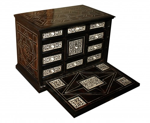 17th Century Italian Ivory And Ebony Inlaid Cabinet - Furniture Style