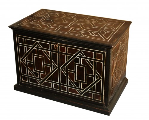 Furniture  - 17th Century Italian Ivory And Ebony Inlaid Cabinet