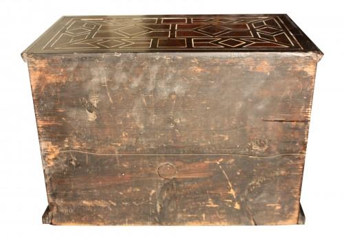 - 17th Century Italian Ivory And Ebony Inlaid Cabinet