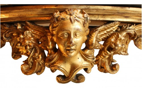 Early 18th c. Florentine carved giltwood console table -