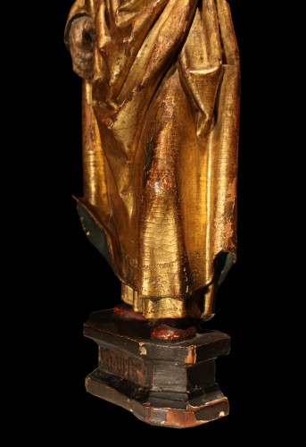 Sculpture  - Late 15th Early 16th Flemish Wood Carving Of St Ursula
