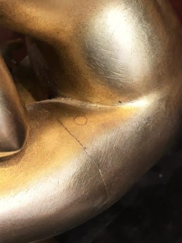 Louis XIV - Late 17th C. Gilt Bronze Crouching Venus