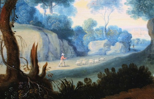 Paintings & Drawings  - Landscape, Oil On Panel, Workshop Of Paul Bril, 17th Century