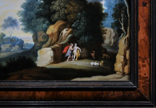 Landscape, Oil On Panel, Workshop Of Paul Bril, 17th Century  -