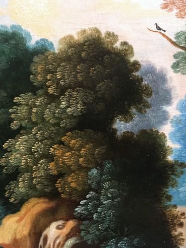 Antiquités - Landscape, Oil On Panel, Workshop Of Paul Bril, 17th Century
