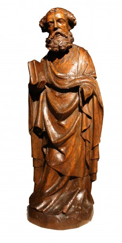 14th C. German Limewood Figure Of St Peter