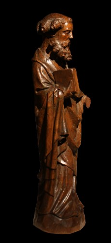 14th C. German Limewood Figure Of St Peter - Sculpture Style Middle age
