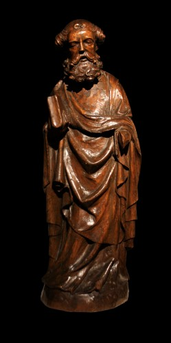 Sculpture  - 14th C. German Limewood Figure Of St Peter