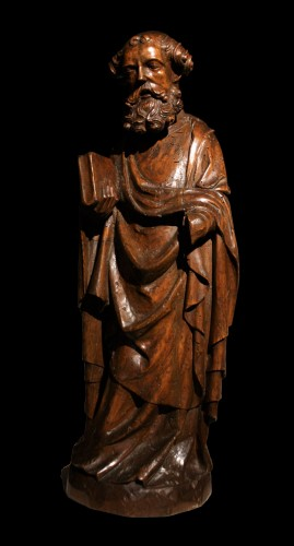 14th C. German Limewood Figure Of St Peter -