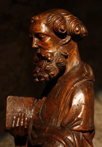 14th C. German Limewood Figure Of St Peter - Middle age