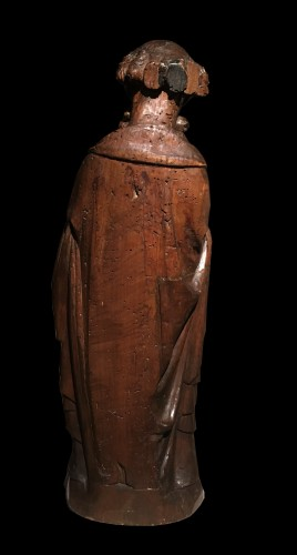Antiquités - 14th C. German Limewood Figure Of St Peter