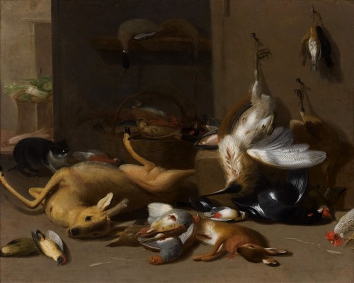 Jan Van Kessel II (1654-1708) Still Life With Game, Oil On Copper