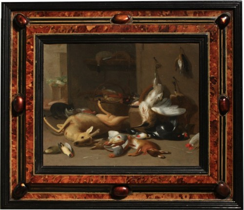 17th century - Jan Van Kessel II (1654-1708) Still Life With Game, Oil On Copper