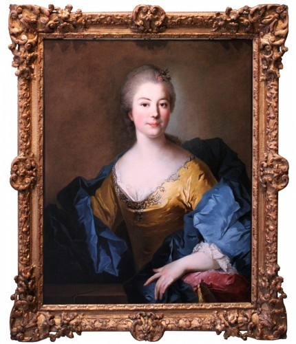 French 18th century portrait of a noblewoman, circle of Jean Marc Nattier