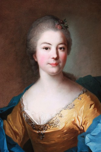 18th century - French 18th century portrait of a noblewoman, circle of Jean Marc Nattier