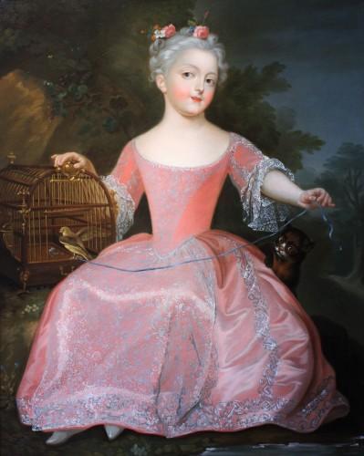 Presumed Portrait of Marie-Anne-Victoire de Bourbon, Pierre Gobert's Studio - Paintings & Drawings Style French Regence