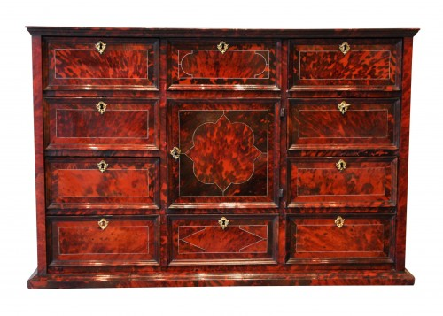 An Antwerp 17th century tortoiseshell inlaid cabinet