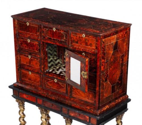 Furniture  - An Antwerp 17th century tortoiseshell inlaid cabinet