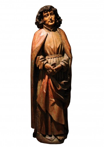 A late 15th century South German limewood carving of St John