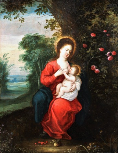 Virgin with child, circle of Jan Brueghel and Hendrick van Balen
