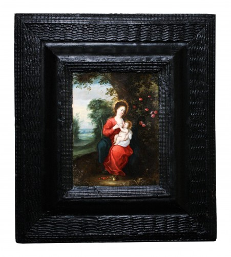Virgin with child, circle of Jan Brueghel and Hendrick van Balen - Paintings & Drawings Style Louis XIII