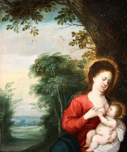 Virgin with child, circle of Jan Brueghel and Hendrick van Balen -