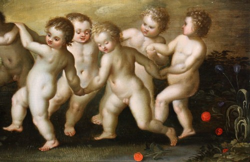 17th century - Putti dancing - attributed to Hendrick van Balen