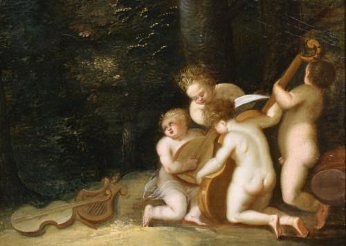 Putti dancing - attributed to Hendrick van Balen - Louis XIII