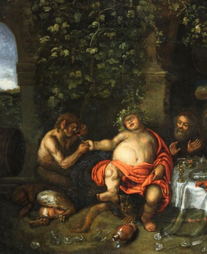 Paintings & Drawings  - Workshop of Simon de Vos (1603-1676), allegory of five senses, Antwerp,17th
