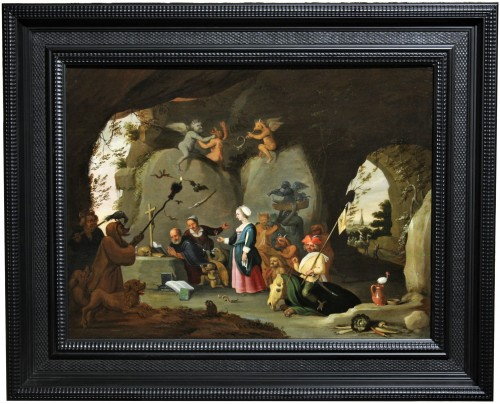 Temptation Of St Anthony - Workshop Of David Teniers The Younger (1610-1690 - Paintings & Drawings Style Louis XIV