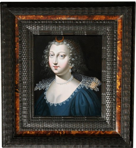 17th century - A 17th C. Portrait Of Anne Of Austria As Diana, Attributed To Claude Deruet