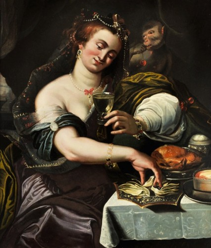 Allegory of Taste - Attributed to A. Janssens (1575-1632)