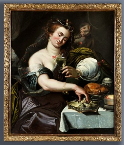 Allegory of Taste - Attributed to A. Janssens (1575-1632) - Paintings & Drawings Style Louis XIII